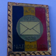 Asociatia Filatelistilor din Romania 1858-1978 Insigna Aniversare