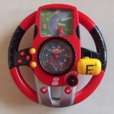 Jucarie Volan simulator auto SMOBY, Disney CARS, sunete reale, lumini semnalizare - Jucarie interactiva