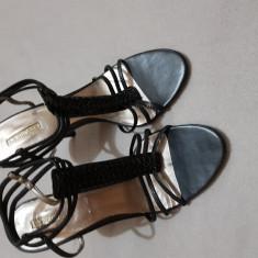 Pantofi de ocazie - Pantof dama Zara, Culoare: Negru, Marime: 40, Cu toc