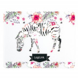 Mousepad Logilink ID0147 Glimmer Zebra Multicolor