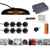 Senzori parcare afisaj display LED avertizare sonora fata spate set kit 8