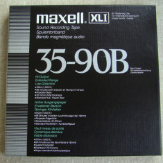 Benzi Magnetofon MAXELL XLI 35 - 90B - Inregistrate o singura data