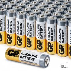 Baterii AA Alcaline GP, R6, High-Performance, 48 buc