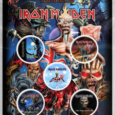 Iron Maiden: Later Albums (set insigne - 5 buc.) - Tricou barbati