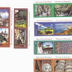 TURISM, IUBESTE ROMANIA, SERIE CU VIGNETA, 2017, MNH, ROMANIA. - Timbre Romania, Arhitectura, Nestampilat