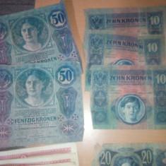 Bancnote vechi, coroane Austro-Ungaria, Europa