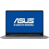 Laptop Asus VivoBook S15 S510UN-BQ255 15.6 inch FHD Intel Core i7-8550U 8GB DDR4 1TB HDD nVidia GeForce MX150 2GB Endless OS Gray Metal, 8 Gb, 1 TB