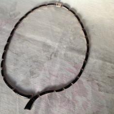 Colier vintage din argint si onix negru, Mexic