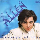 Steve Allen - Message Of Love (1986, Polydor) disc vinil Maxi Single italo-disco