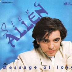 Steve Allen - Message Of Love (1986, Polydor) disc vinil Maxi Single italo-disco - Muzica Dance