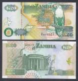 ZAMBIA. 20 KWACHA 1992. UNC.