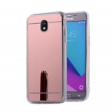 Husa Samsung Galaxy J3 2017 Fashion Mirror RoseGold, Gel TPU, Carcasa