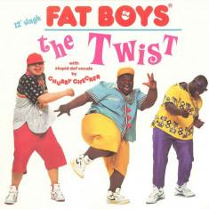 Fat Boys - The Twist 1988, disc vinil Maxi Single Rock & Roll super hit