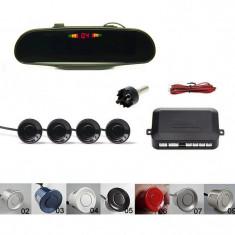 Senzori parcare spate afisaj display in oglinda avertizare sonora 4 pe set kit