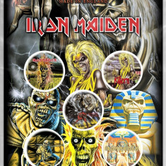 Iron Maiden: Early Albums (set insigne - 5 buc.) - Tricou barbati