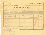 Z351 DOCUMENT VECHI -RECEPISA - SCOALA COMERCIALA DE BAIETI BRAILA -AN 1935