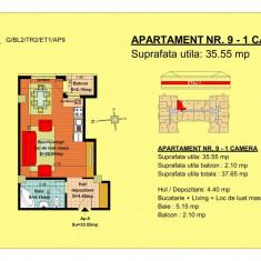 Garsoniera etaj 2 - Garsoniera de vanzare, 36 mp, An constructie: 2018, Etajul 2