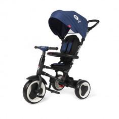 Tricicleta pliabila pentru copii QPlay Rito Albastru inchis DHS - Tricicleta copii