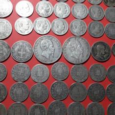 ARGINT-48 monede vechi argint Italia-UMBERTO I si VITTORIO EMANUELE, Europa, An: 1907