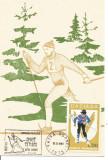 No(2)ilustrata maxima-SPORTURI DE IARNA-Schii fond, Romania de la 1950, Sport