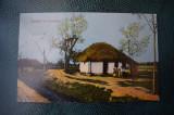 AKVDE18 - Carte postala - Salutari din Romania - Sat taranesc, Circulata, Printata