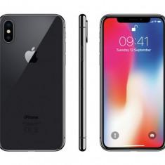 IPhone X - 64 GB - Cel mai mic PRET - ORIGINAL - SPACE GREY - Ca NOU - Telefon iPhone Apple, Negru