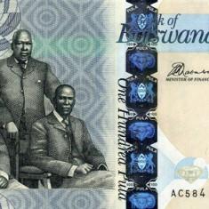 Botswana 100 Pula 2012 - P 33 UNC !!! - bancnota africa