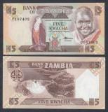 ZAMBIA. 5 KWACHA 1980-88. UNC.