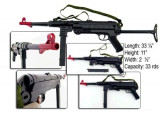 NOU!PUSCA AIRSOFT ELECTRICA MP40,BILE CRYSTAL BULLET,LUNETA,OCHELARI,ACUMULATOR.