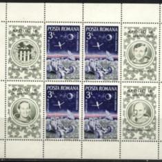 ROMANIA 1972 - COSMOS, APOLLO 16, BLOC DE 4, A19