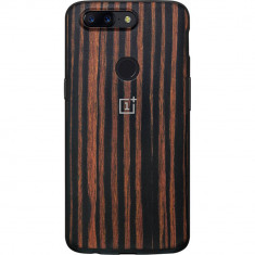 Husa Protectie Spate OnePlus Wood Ebony Maro pentru ONEPLUS 5T - Husa Telefon