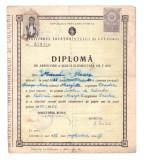 Diploma de absolvire a scolii elementare de 7 clase, 1950/51