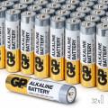 Baterii Alcaline AAA GP, R3, High-Performance, 32 buc