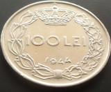 Moneda 100 Lei - ROMANIA, anul 1944   *cod 1772  A.UNC