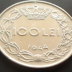 Moneda 100 Lei - ROMANIA, anul 1944 *cod 1772 A.UNC - Moneda Romania