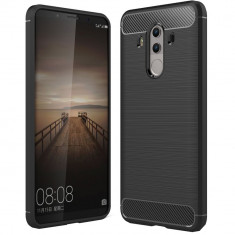 Husa Carbon pentru Huawei Mate 10 Pro, Negru - Husa Telefon