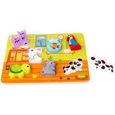 Puzzle din Lemn Potriveste Animalele