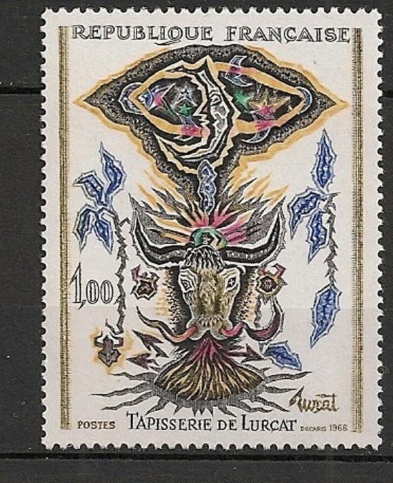 Franta 1966 - TAPISERIE DE LURCAT, timbru nestampilat, FL16