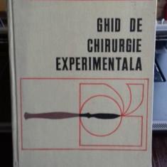 GHID DE CHIRURGIE EXPERIMENTALA - C. CAPATINA - Carte Chirurgie