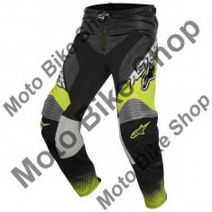 MBS ALPINESTARS RENNHOSE RACER SUPERMATIC, anthrazit-gelb fluo-hellgrau, 32, LE2017, Cod Produs: 3721517143532AU - Imbracaminte moto Alpinestars, Pantaloni