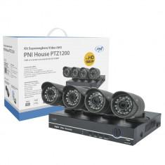 Aproape nou: Kit supraveghere video AHD PNI House PTZ1200 Full HD - NVR si 4 camere