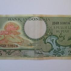 Indonezia/Indonesia 25 Rupiah 1959 - bancnota asia