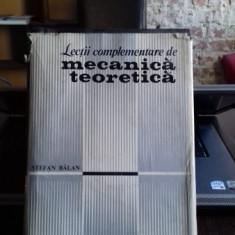 LECTII COMPLEMENTARE DE MECANICA TEORETICA - STEFAN BALAN