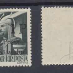 ROMANIA Ardealul de Nord 1945 Posta Salajului eroare rara Sajajului 1P / 1f MNH - Timbre Romania, Nestampilat