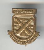 ARTILERIA ROMANA 1843 - 1993 Insigna MILITARA