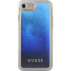 Husa Protectie Spate Guess GUHCP7GLUGRRBL Liquid Glitter Albastru pentru Apple iPhone 7, iPhone 8 - Husa Telefon
