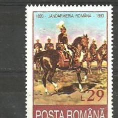 ROMANIA 1993 - JANDARMERIA RULALA, timbru nestampilat AA26 - Timbru Romania dupa 1900