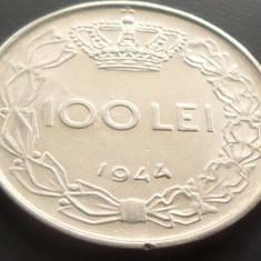 Moneda 100 Lei - ROMANIA, anul 1944 *cod 1432 XF*** - Moneda Romania