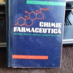 Chimie Farmaceutica Manual pentru scolile tehice sanitare V. Zota si D. Oteleanu - Carte Medicina alternativa