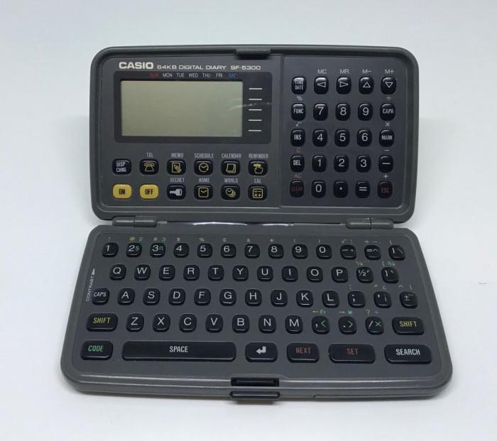 Agenda digitala Vintage Casio 64kb SF-5300 PDA Organizator (1305)